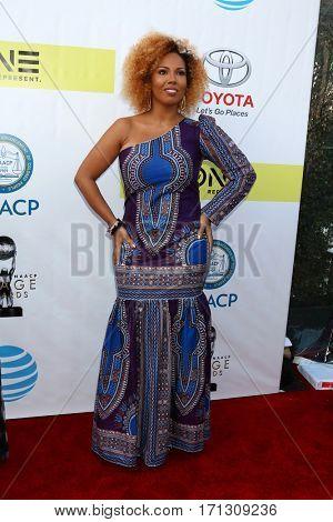 LOS ANGELES - FEB 11:  Jamilah Lemieux at the 48th NAACP Image Awards Arrivals at Pasadena Conference Center on February 11, 2017 in Pasadena, CA