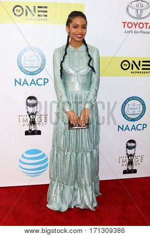 LOS ANGELES - FEB 11:  Yara Shahidi at the 48th NAACP Image Awards Arrivals at Pasadena Conference Center on February 11, 2017 in Pasadena, CA