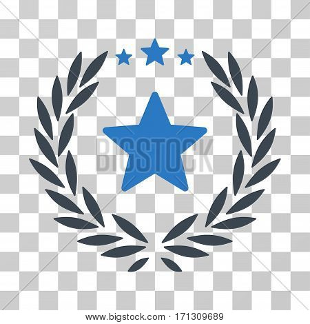 Proud Emblem icon. Vector illustration style is flat iconic bicolor symbol smooth blue colors transparent background. Designed for web and software interfaces.