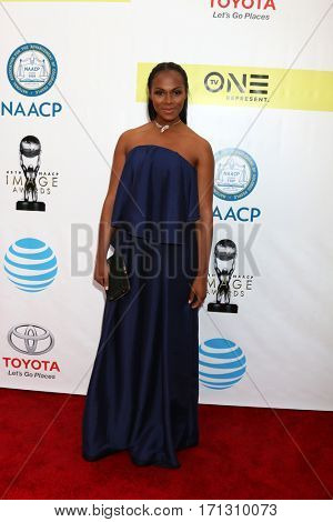 LOS ANGELES - FEB 11:  Tika Sumpter at the 48th NAACP Image Awards Arrivals at Pasadena Conference Center on February 11, 2017 in Pasadena, CA