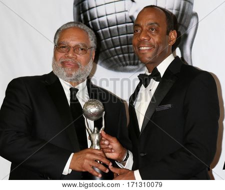LOS ANGELES - FEB 11:  Lonnie Bunch, Cornell William Brooks at the 48th NAACP Image Awards Press Room at Pasadena Conference Center on February 11, 2017 in Pasadena, CA