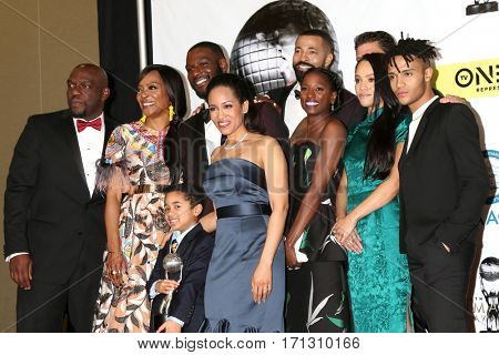 LOS ANGELES - FEB 11:  Queen Sugar Cast members at the 48th NAACP Image Awards Press Room at Pasadena Conference Center on February 11, 2017 in Pasadena, CA