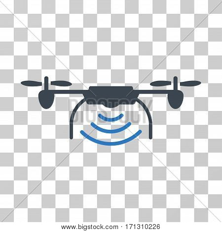 Radio Transmitter Airdrone icon. Vector illustration style is flat iconic bicolor symbol smooth blue colors transparent background. Designed for web and software interfaces.