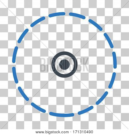 Round Area icon. Vector illustration style is flat iconic bicolor symbol smooth blue colors transparent background. Designed for web and software interfaces.