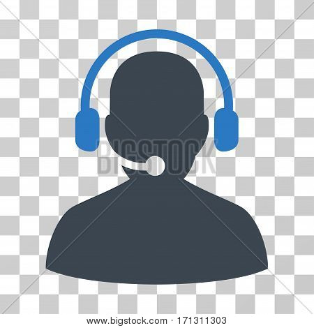 Telemarketing icon. Vector illustration style is flat iconic bicolor symbol smooth blue colors transparent background. Designed for web and software interfaces.