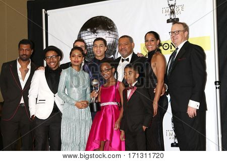 LOS ANGELES - FEB 11:  Blackish Cast at the 48th NAACP Image Awards Press Room at Pasadena Conference Center on February 11, 2017 in Pasadena, CA