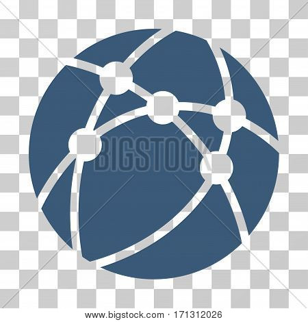 Browser icon. Vector illustration style is flat iconic symbol blue color transparent background. Designed for web and software interfaces.