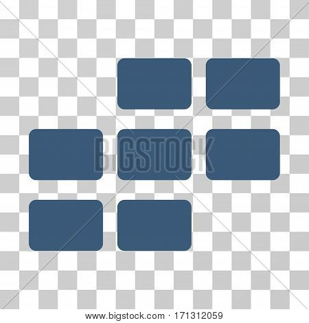 Calendar Grid icon. Vector illustration style is flat iconic symbol blue color transparent background. Designed for web and software interfaces.