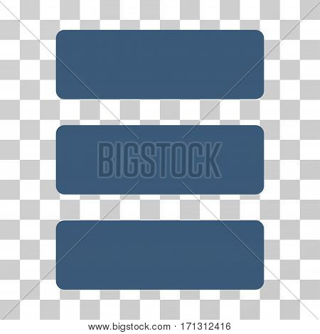 Database icon. Vector illustration style is flat iconic symbol blue color transparent background. Designed for web and software interfaces.
