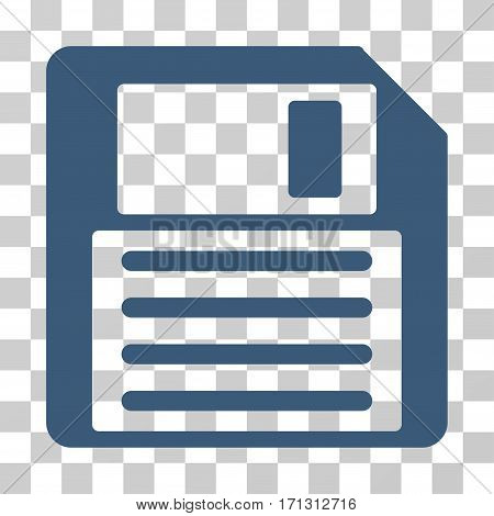 Floppy icon. Vector illustration style is flat iconic symbol blue color transparent background. Designed for web and software interfaces.