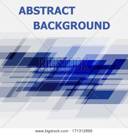 Abstract blue geometric overlapping design background, stock vector
