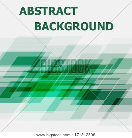 Abstract green geometric overlapping design background, stock vector