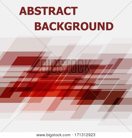 Abstract red geometric overlapping design background, stock vector