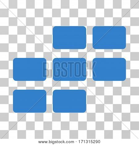 Calendar Grid icon. Vector illustration style is flat iconic symbol cobalt color transparent background. Designed for web and software interfaces.