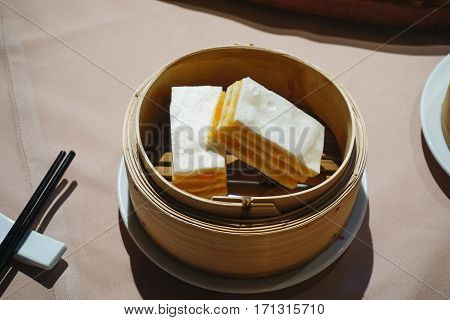 Chinese Steamed Buns And Variety Of Dim Sum Traditional Chinese Breakfast
