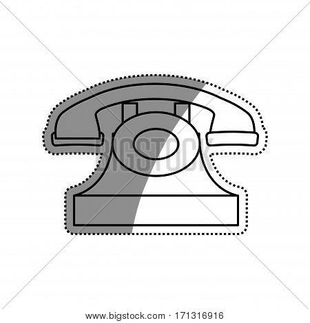 Vintage telephone device icon vector illustration graphic design