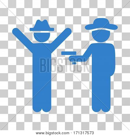Gentleman Crime icon. Vector illustration style is flat iconic symbol cobalt color transparent background. Designed for web and software interfaces.