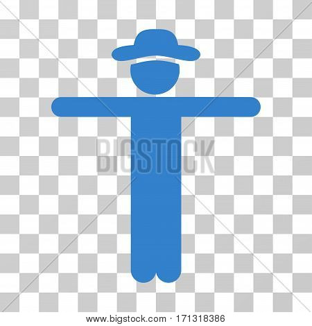 Gentleman Scarescrow icon. Vector illustration style is flat iconic symbol cobalt color transparent background. Designed for web and software interfaces.