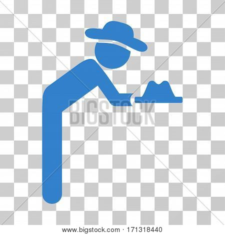 Gentleman Servant icon. Vector illustration style is flat iconic symbol cobalt color transparent background. Designed for web and software interfaces.