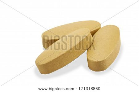 vitamin pills on white background object, health,