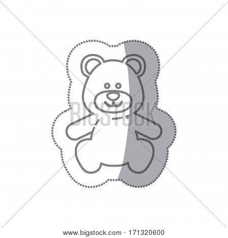 teddy bear baby icon image design, vector illustration