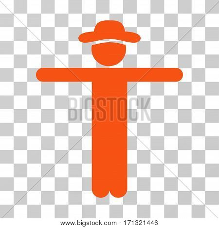 Gentleman Scarescrow icon. Vector illustration style is flat iconic symbol orange color transparent background. Designed for web and software interfaces.