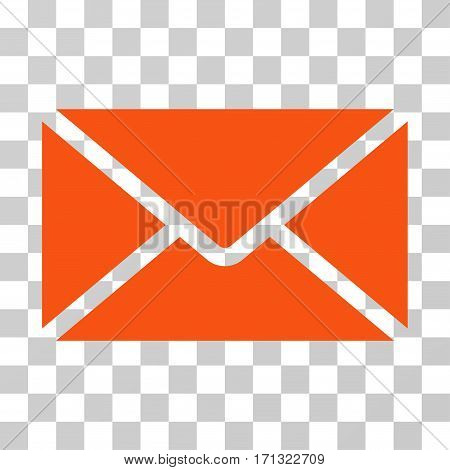 Mail Envelope icon. Vector illustration style is flat iconic symbol orange color transparent background. Designed for web and software interfaces.