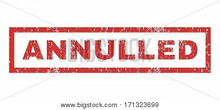 Annulled text rubber seal stamp watermark. Caption inside rectangular shape with grunge design and unclean texture. Horizontal vector red ink sticker on a white background.