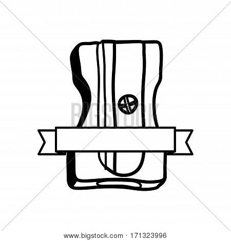 pencil sharpener study stock icon, vector illustration