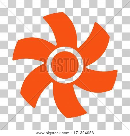 Rotor icon. Vector illustration style is flat iconic symbol orange color transparent background. Designed for web and software interfaces.