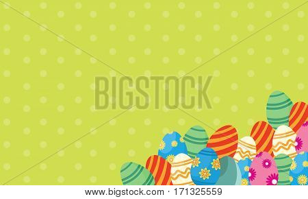 Vector art of easter with egg collection stock