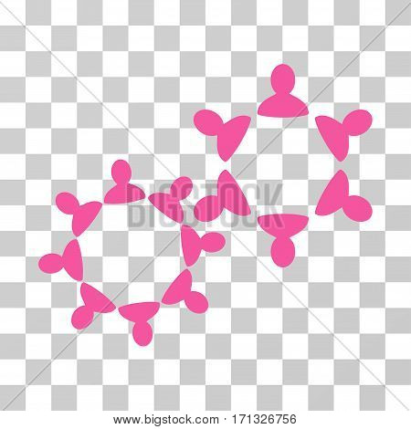 Collaboration icon. Vector illustration style is flat iconic symbol pink color transparent background. Designed for web and software interfaces.