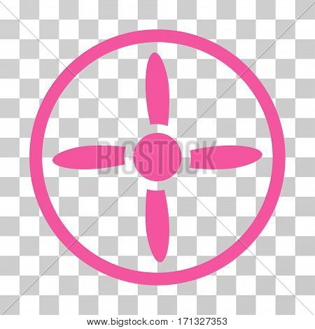 Drone Screw icon. Vector illustration style is flat iconic symbol pink color transparent background. Designed for web and software interfaces.