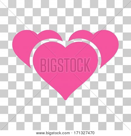 Favourite Hearts icon. Vector illustration style is flat iconic symbol pink color transparent background. Designed for web and software interfaces.