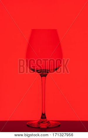 wineglass on colorful background, close-up studio shoot