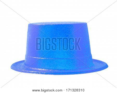 Sky blue hat isolated on the white background clipping path.