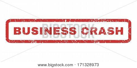 Business Crash text rubber seal stamp watermark. Caption inside rectangular shape with grunge design and unclean texture. Horizontal vector red ink emblem on a white background.