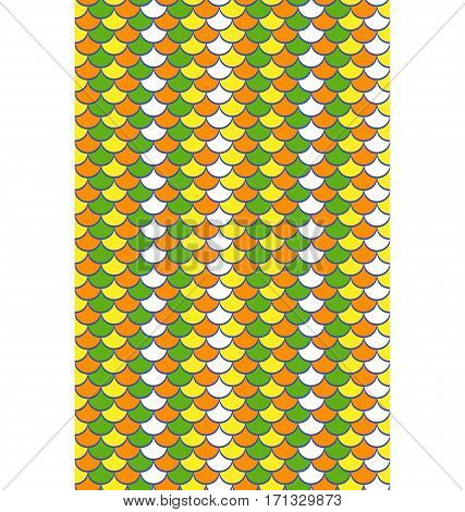 Seamless multicolor bright abstract fish scale pattern