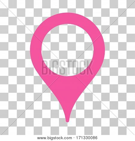 Map Pointer icon. Vector illustration style is flat iconic symbol pink color transparent background. Designed for web and software interfaces.