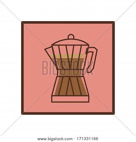 coffee moka pot icon image, vector illustration