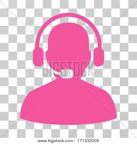 Receptionist icon. Vector illustration style is flat iconic symbol pink color transparent background. Designed for web and software interfaces.