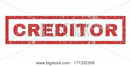 Creditor text rubber seal stamp watermark. Caption inside rectangular shape with grunge design and scratched texture. Horizontal vector red ink sign on a white background.