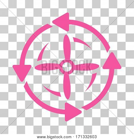 Screw Rotation icon. Vector illustration style is flat iconic symbol pink color transparent background. Designed for web and software interfaces.