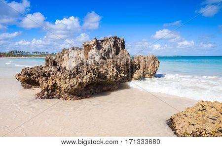Coastal Rocks. Macao Beach, Landscape