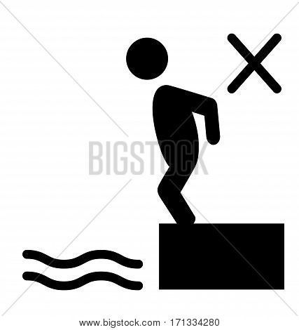 Swim water inflatable circle information flat people pictogram icon isolated on white background