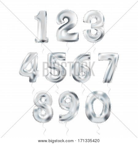 Metallic Silver Letter Balloons, 123 silvern numeral alphabeth. Silver Number Balloons, 1, Alphabet Letter Balloons, 2, Number Balloons, 3 Air Filled Balloon