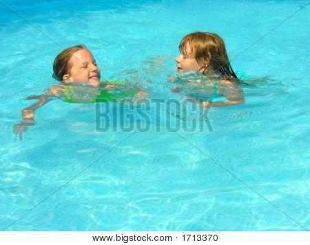 Happy Swimming Friends