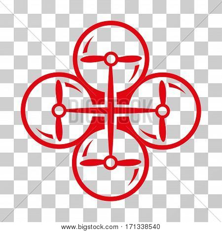Drone Screws icon. Vector illustration style is flat iconic symbol red color transparent background. Designed for web and software interfaces.