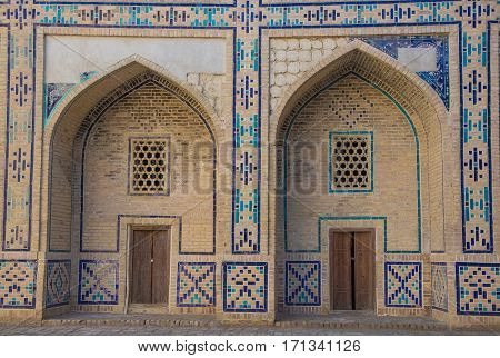 Doors And .arch In The Old City Center Of Bukhara, Uzbekistan, March 2016