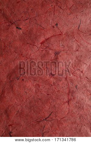 Abstract red background. Red texture. Close up view of plant fiber texture. Abstract red background and texture for designers. Plant fiber background.